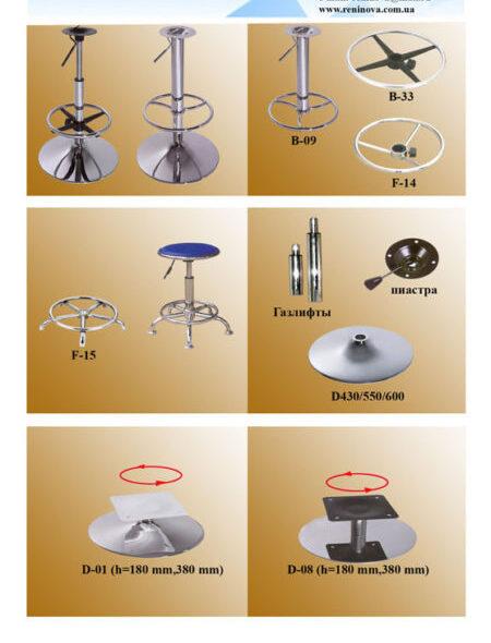 комплектующие кресел, стульев