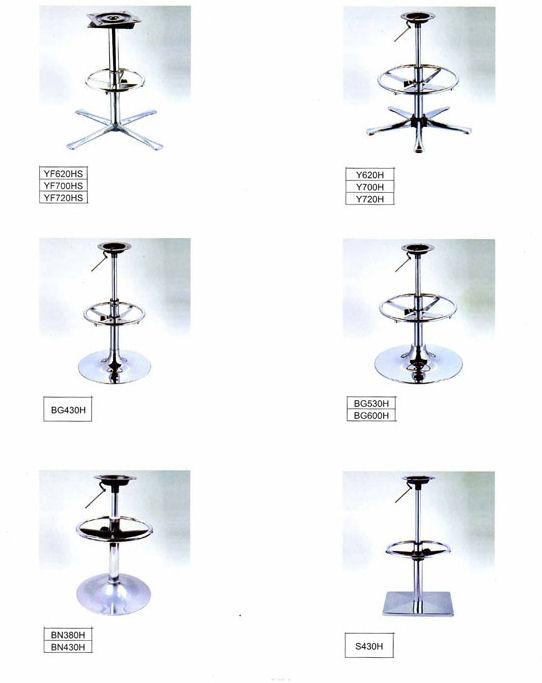 Хромированные комплектующие для барных стульев (стр.1)